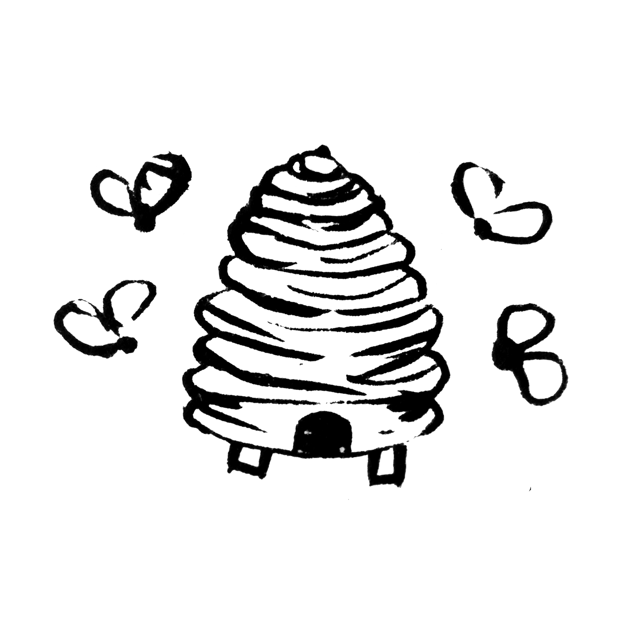 Honey Pot Black Logo without Text