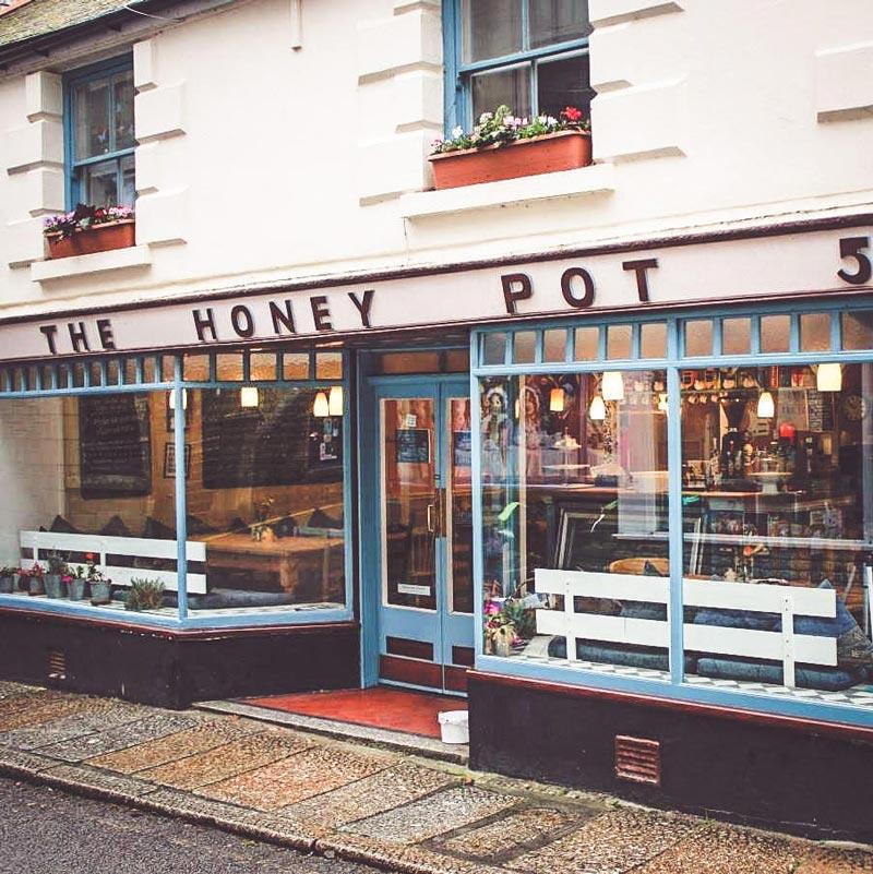 The Honey Pot café front entrance.